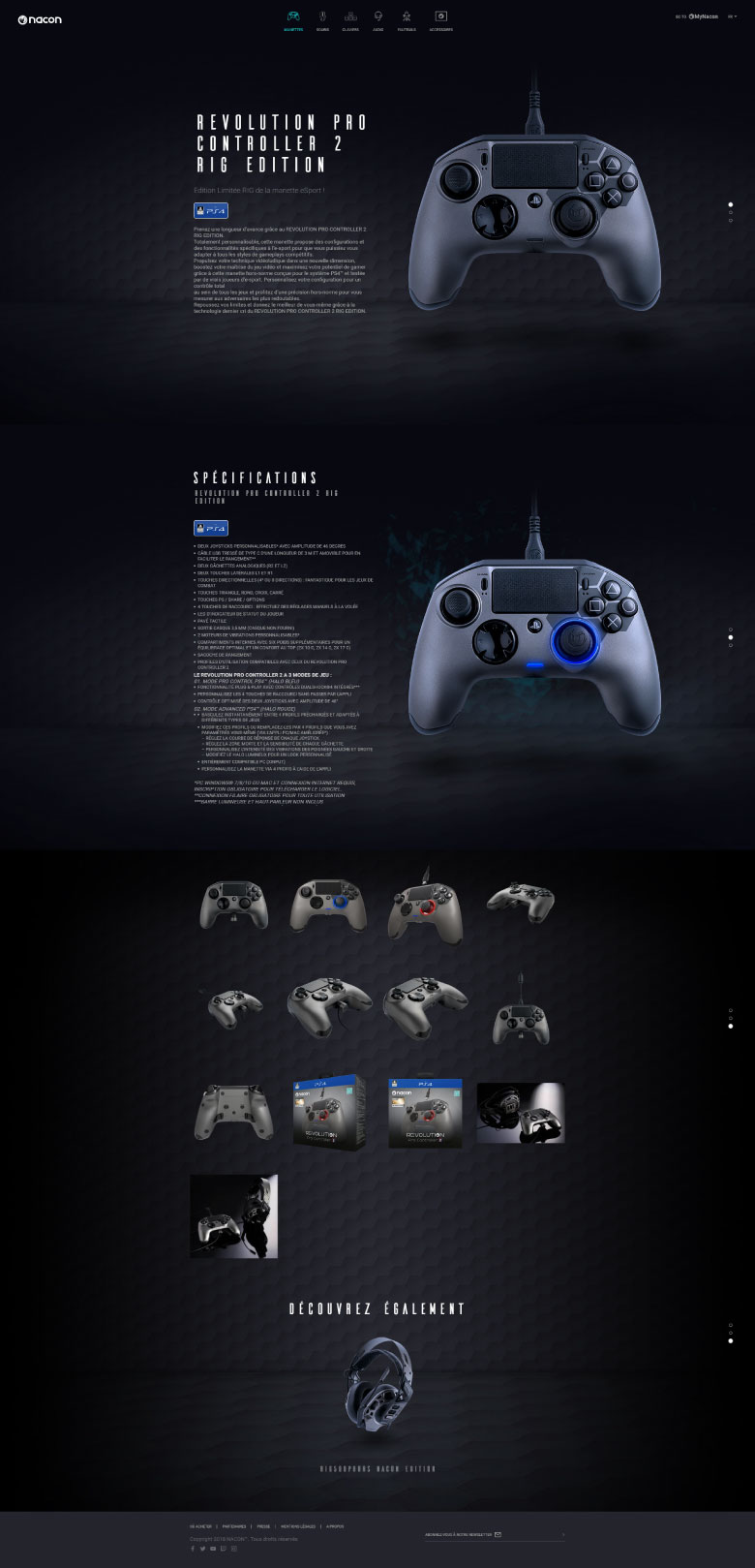 https://www.fabienrodrigues.com/Nacon Gaming - Page produit