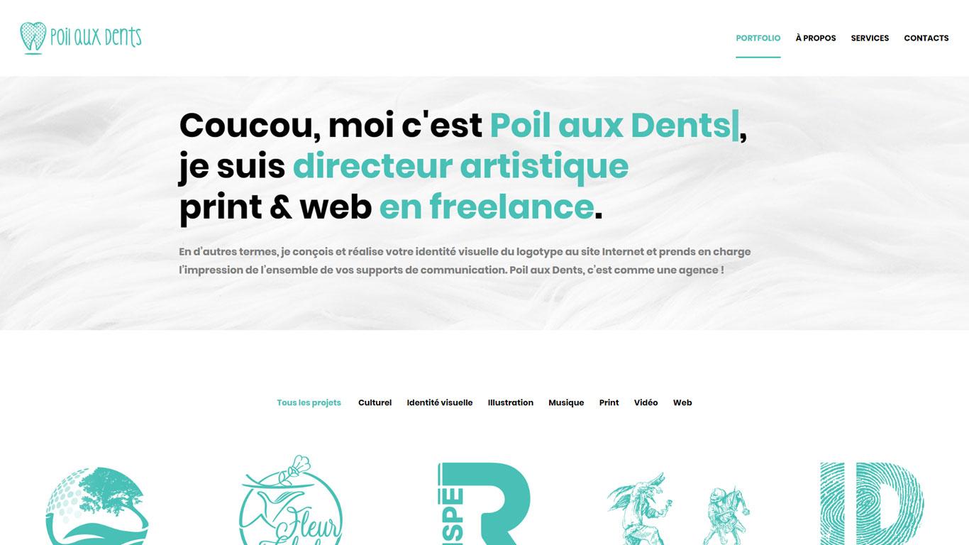 https://www.fabienrodrigues.com/Poil aux dents - directeur artistique print & web en freelance