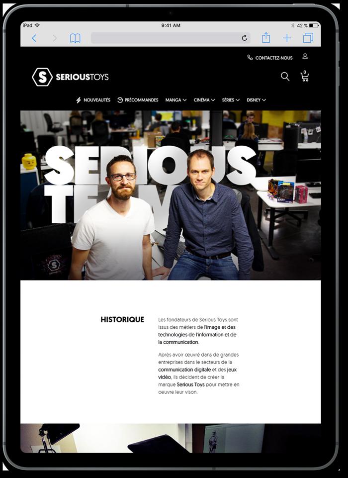 https://www.fabienrodrigues.com/serioustoys - L'équipe